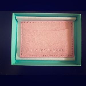 Tiffany & Co mini wallet— pink